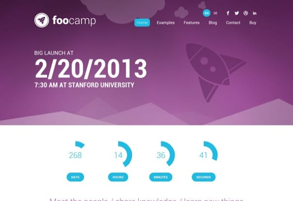 FooCamp - Conference WordPress Theme