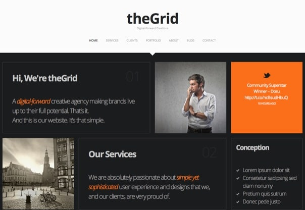 theGrid – Retina Ready One-Page WordPress Theme