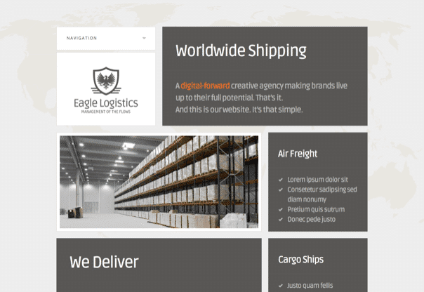 Eagle Logistics - Retina-Ready WordPress Theme