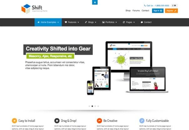 Shift - Flexibly Creative WP Theme