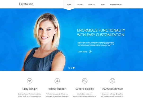 Crystalline - Ultimate Business WordPress Theme