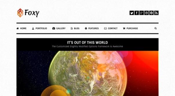 Foxy Portfolio - Responsive WordPress Theme