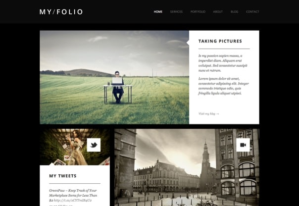 MY FOLIO - Retina Ready WP Photography Theme