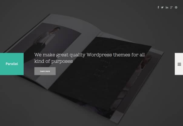 Parallel - Responsive Photography WordPress Theme