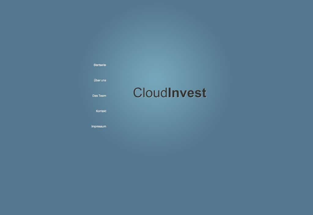 Cloud Invest Startseite