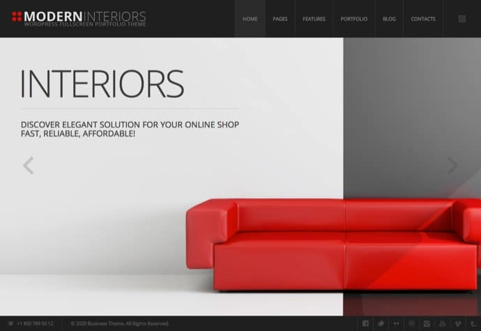 Modern Interior Responsive WordPress Theme