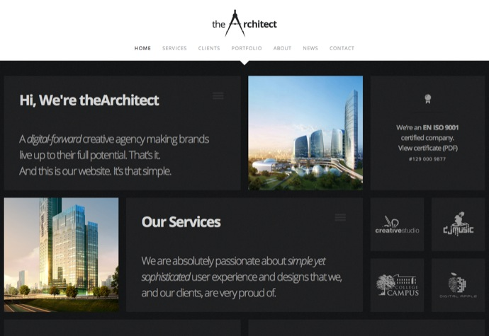 theArchitect – Responsive WordPress Theme