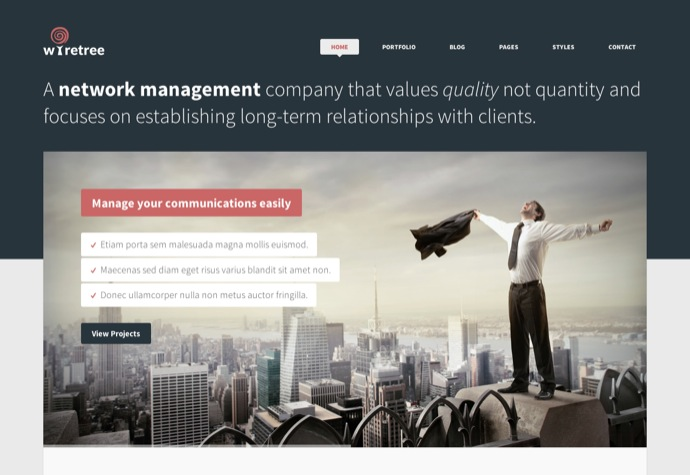 Wiretree - Responsive Corporate WordPress Theme