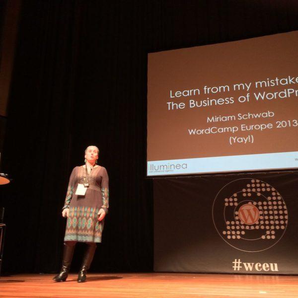 WordCamp Europe Miriam Schwab ueber Ihre Erfahrungen als Agenturgruenderin