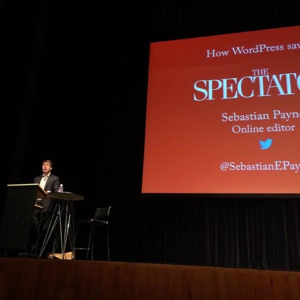 WordCamp Europe Sebastian Payne erzaehlte wie WordPress den Spectator rettete