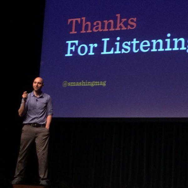 WordCamp Europe Vitaly Friedman erzaehlt die Geschichte von Smashing Magazine