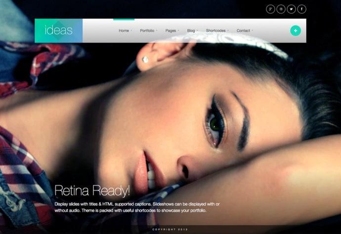 Ideas - Fullscreen Responsive WordPress Theme