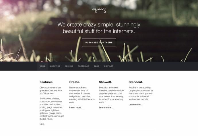 Refinery - Responsive Creative WordPress Theme