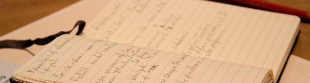 Gedanken aufschreiben Skizzen