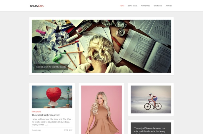 InfinityGrid - Personal blogging theme