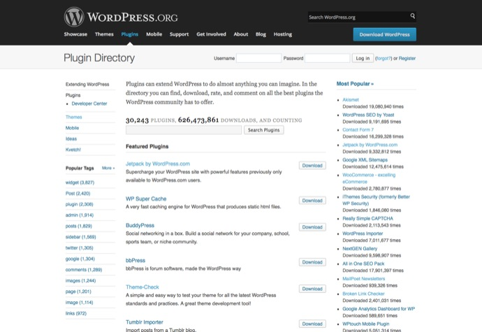 Plug-ins bei WordPress.org