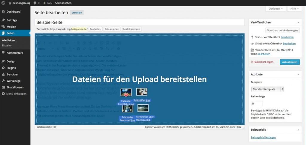 WordPress 3.9 Dateienupload