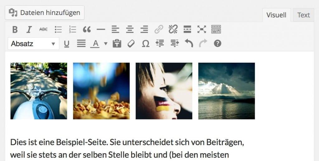 WordPressa 3.9 Galerie