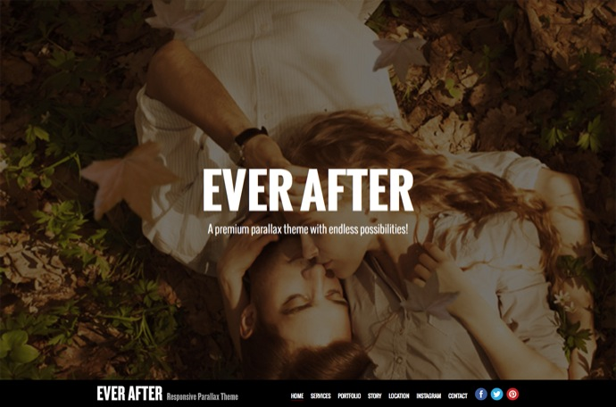 Ever After - OnePage Parallax WordPress Theme