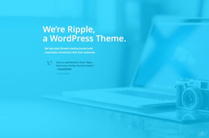 Ripple — Multi-Purpose OnePage Theme for Creatives