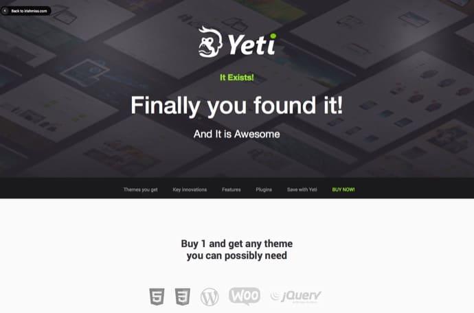 Yeti - Responsive Ultimate Theme
