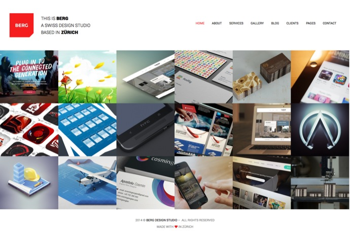 Discussion on Berg - WordPress Portfolio Theme