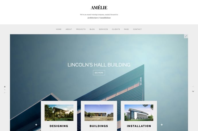 Amelie - WP Theme for Creatives & Photographers