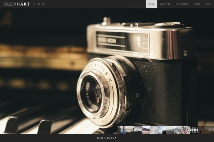 Blend - Fullscreen Photography WordPress Theme