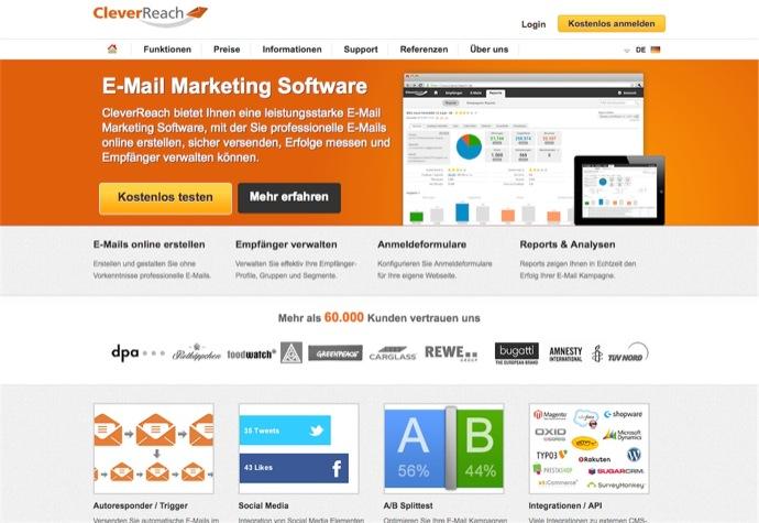 Newsletter Dienst CleverReach