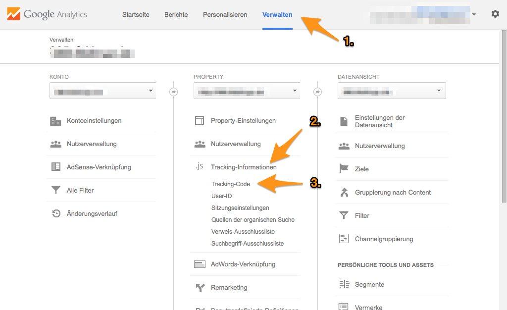 Google-Analytics-Code herausfinden