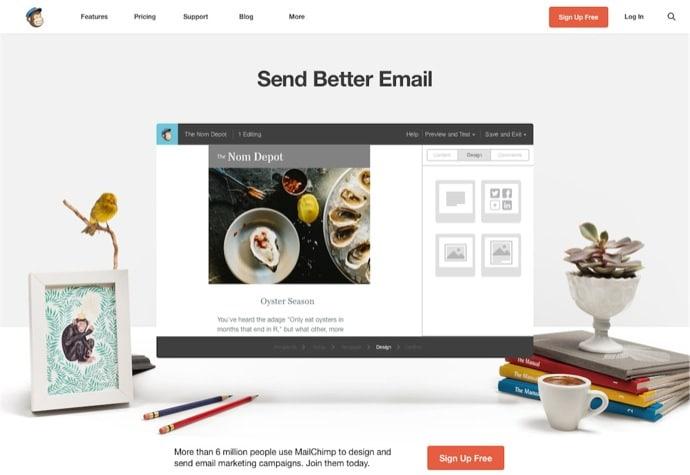Newsletter Dienst MailChimp