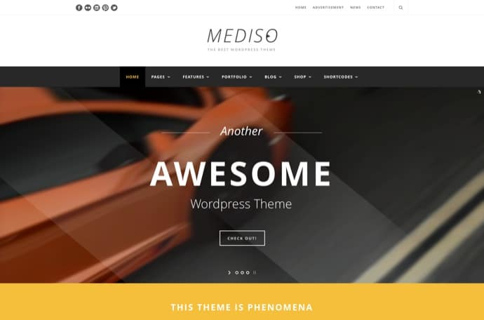 Mediso - Corporate - One-Page - Blogging WP Theme