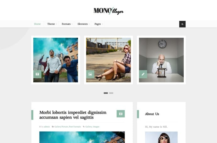 Nillmono - Multipurpose Personal WordPress Blog