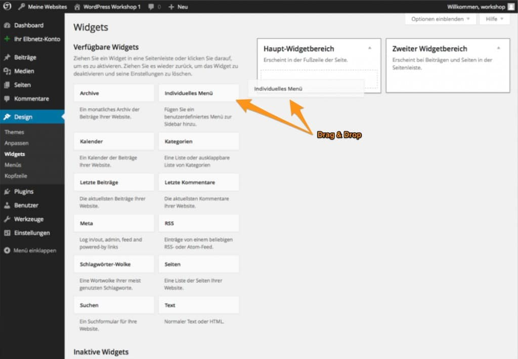 Individuelles Menü in WordPress anlegen