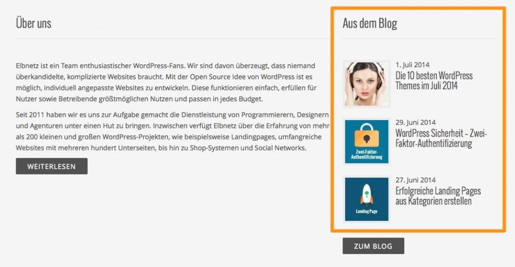 Verwendung von Beitragsbildern in WordPress