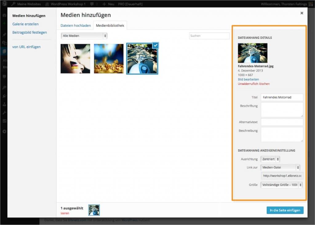 Metadaten zu Bildern hinzufügen