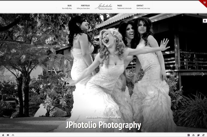 JPhotolio - Responsive Wedding Photography WP Theme