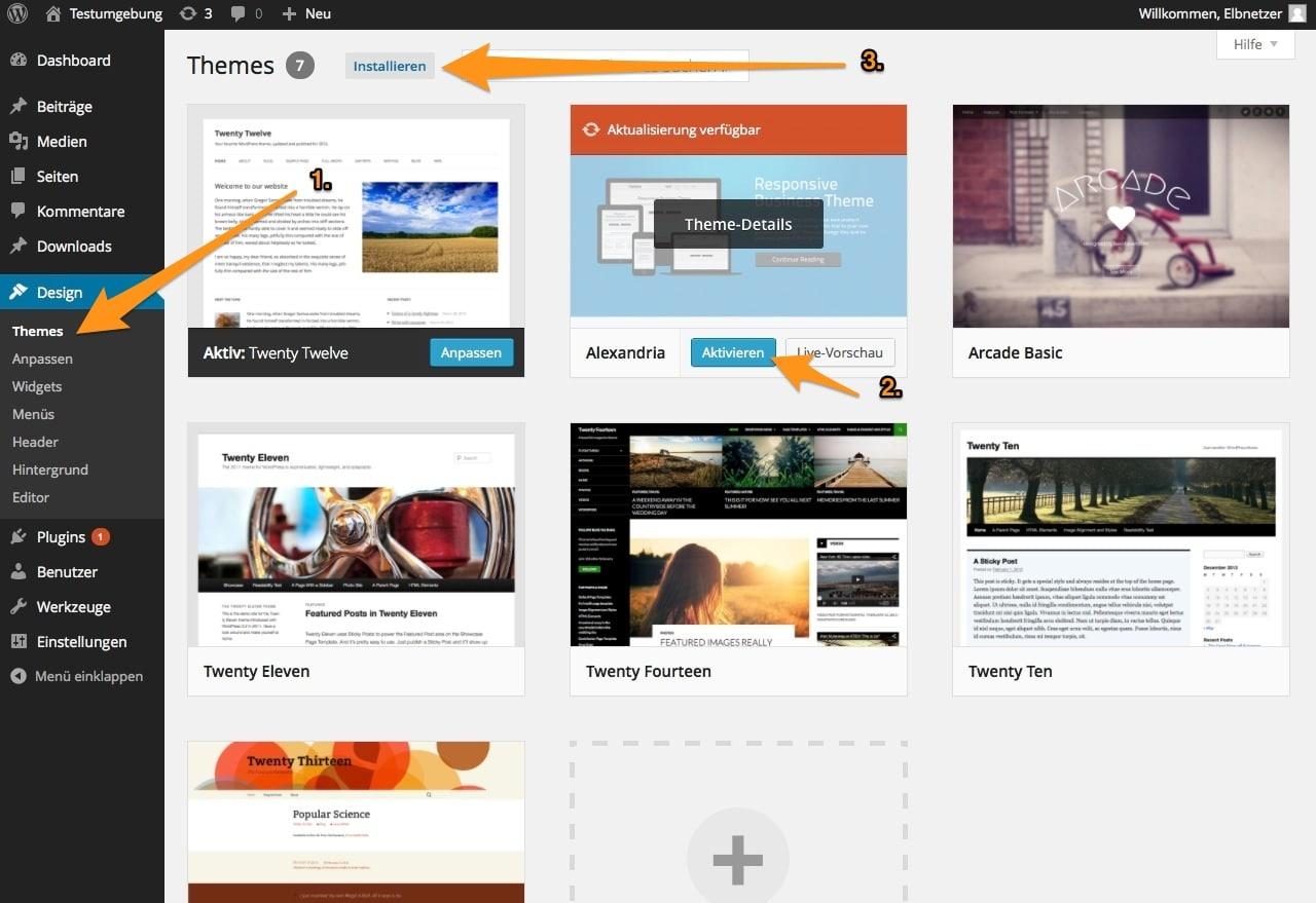 WordPress: Wie leicht ist es, das Design zu wechseln? · Elbnetz-Blog