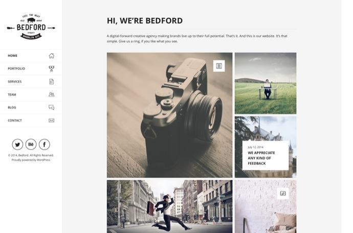 Bedford – Responsive Portfolio WordPress Theme