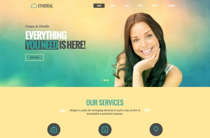Ethereal - Multipurpose Parallax WordPress Theme