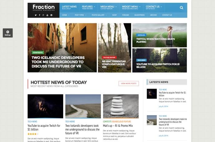 Fraction - Multipurpose News, Magazine Theme