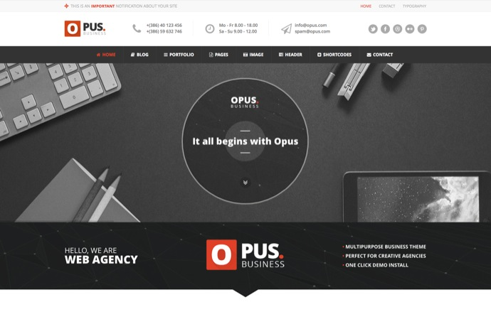 Opus - Multipurpose Business WordPress Theme