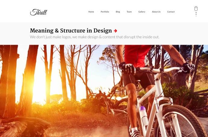 Thrill - One Page WordPress Theme