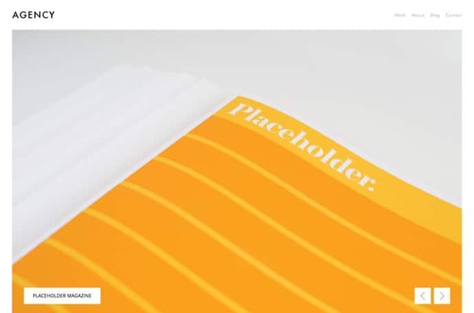 Agency - Fullscreen Minimal WordPress Portfolio