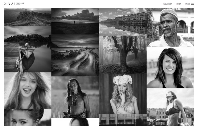 DIVA - Fabulous Photography WP Theme