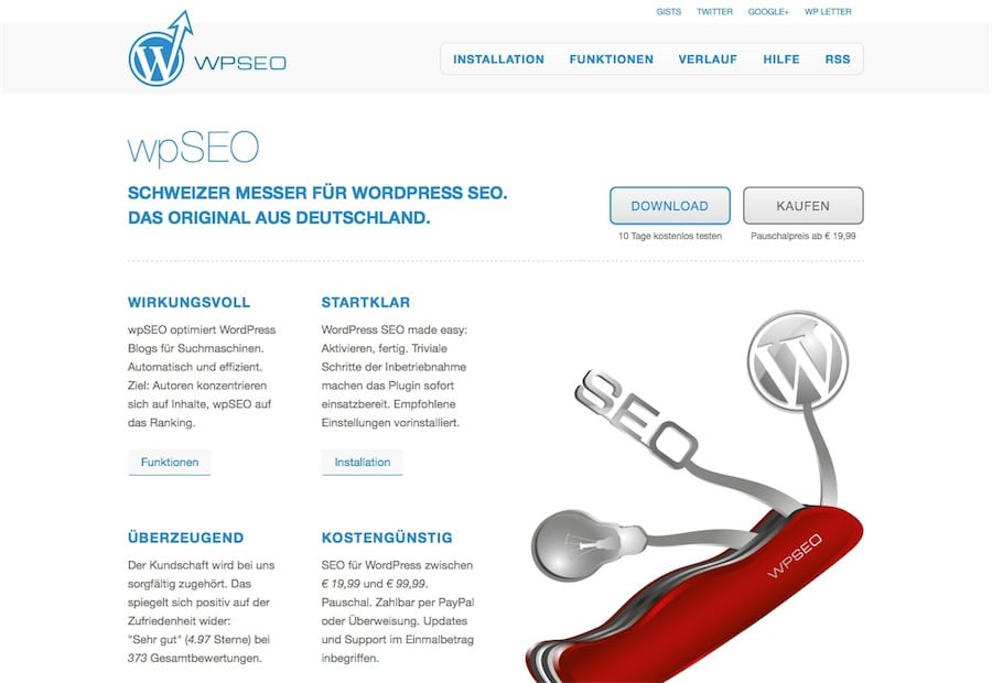 wpSEO Website