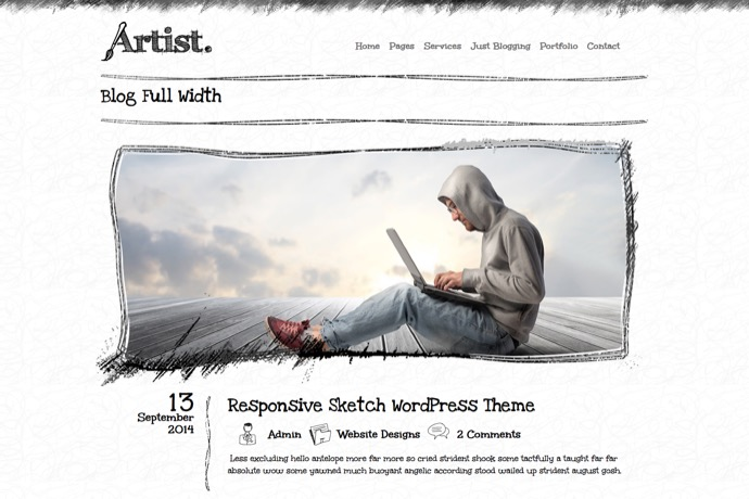 Artist Multipurpose Sketch Layout WordPress Theme
