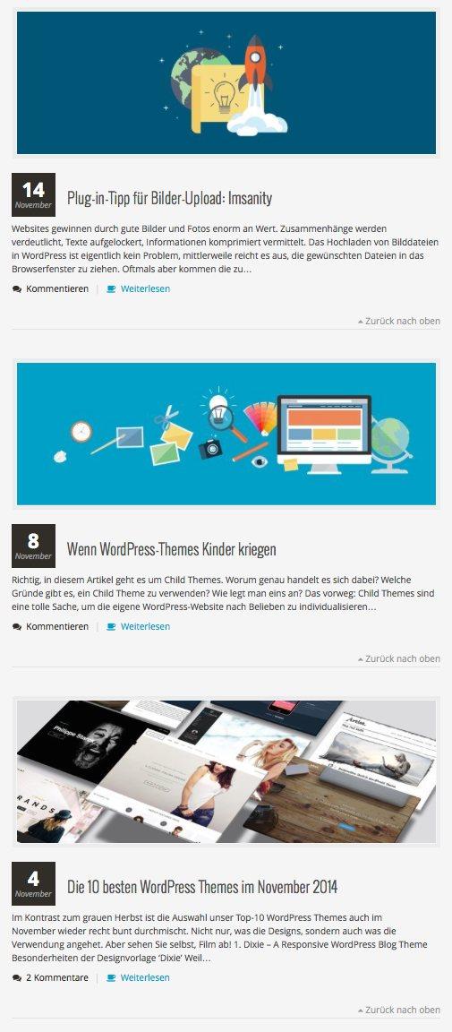 Beitragsbilder bei WordPress