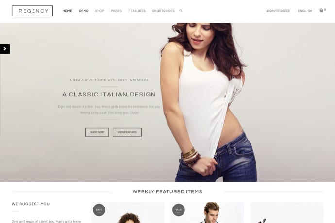Regency - A Beautiful & Modern Ecommerce Theme