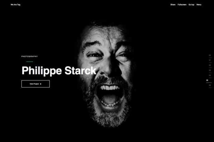 Tag - Creative Agency-Portfolio Fullscreen Theme
